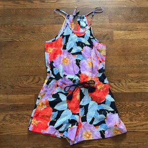 LOFT S Colorful Floral Romper